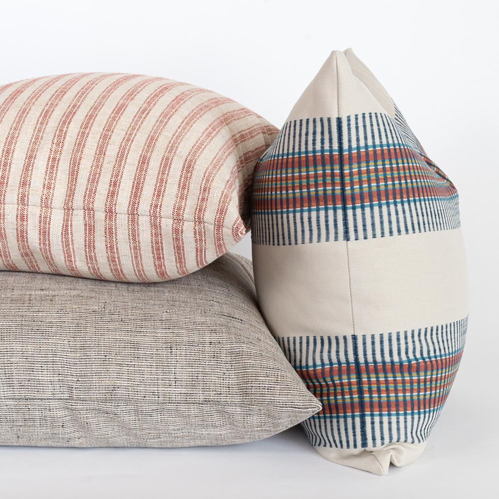 Cream navy and rust pillow combo from Tonic Living