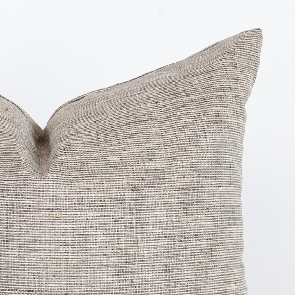 Stanhope Ash, a gray neutral backer pillow from Tonic Living