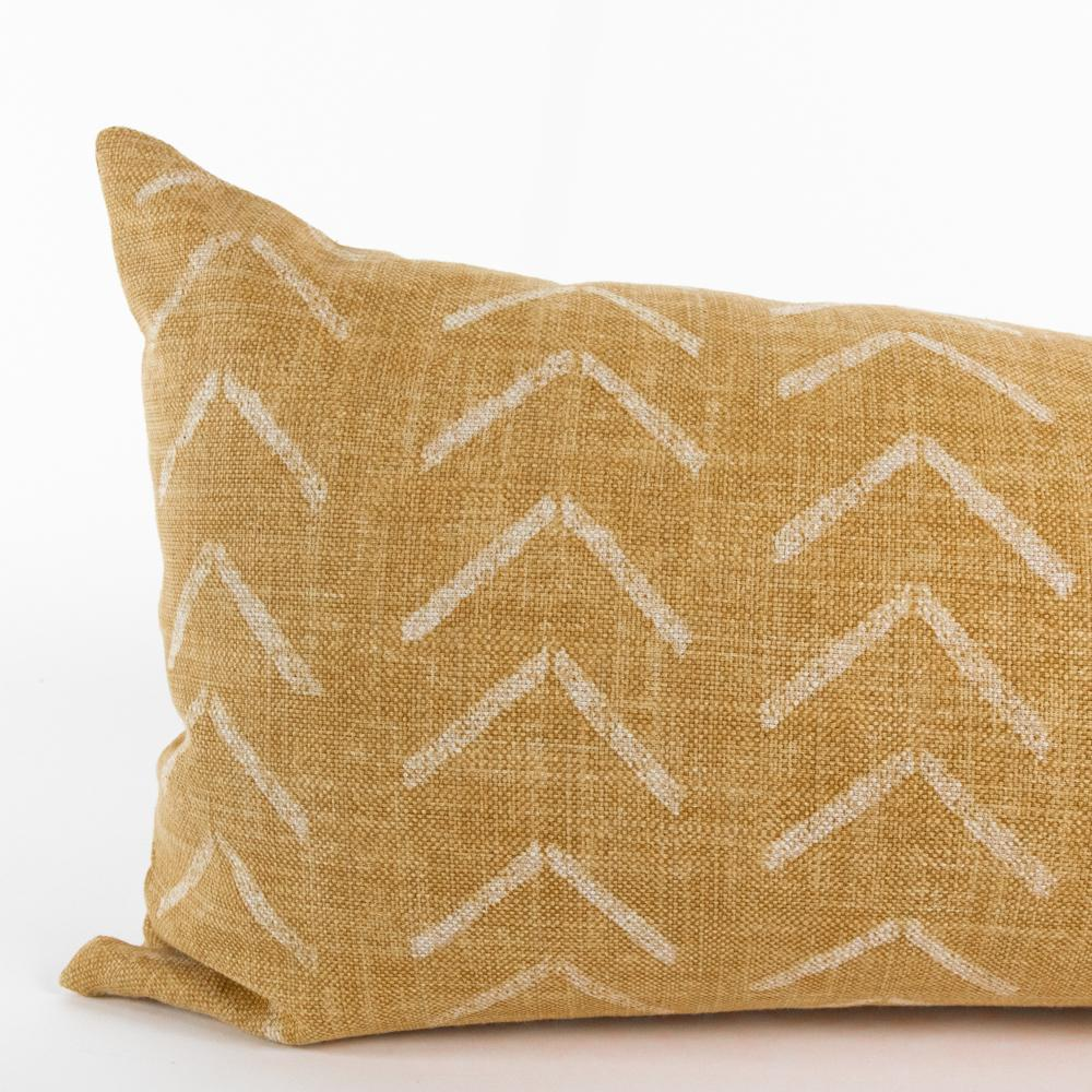 Tagus Cork, a mudcloth inspired extra long lumbar pillow from Tonic Living
