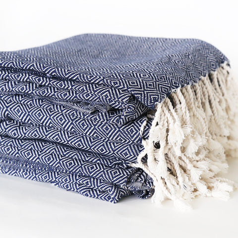 Turkish Towel - Takeda, Navy