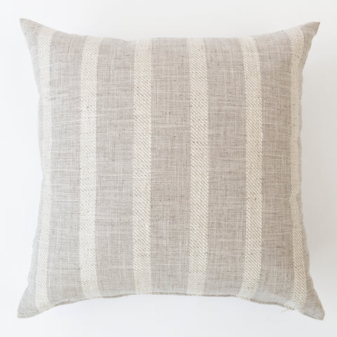 Thornton stripe pale gray pillow from Tonic Living
