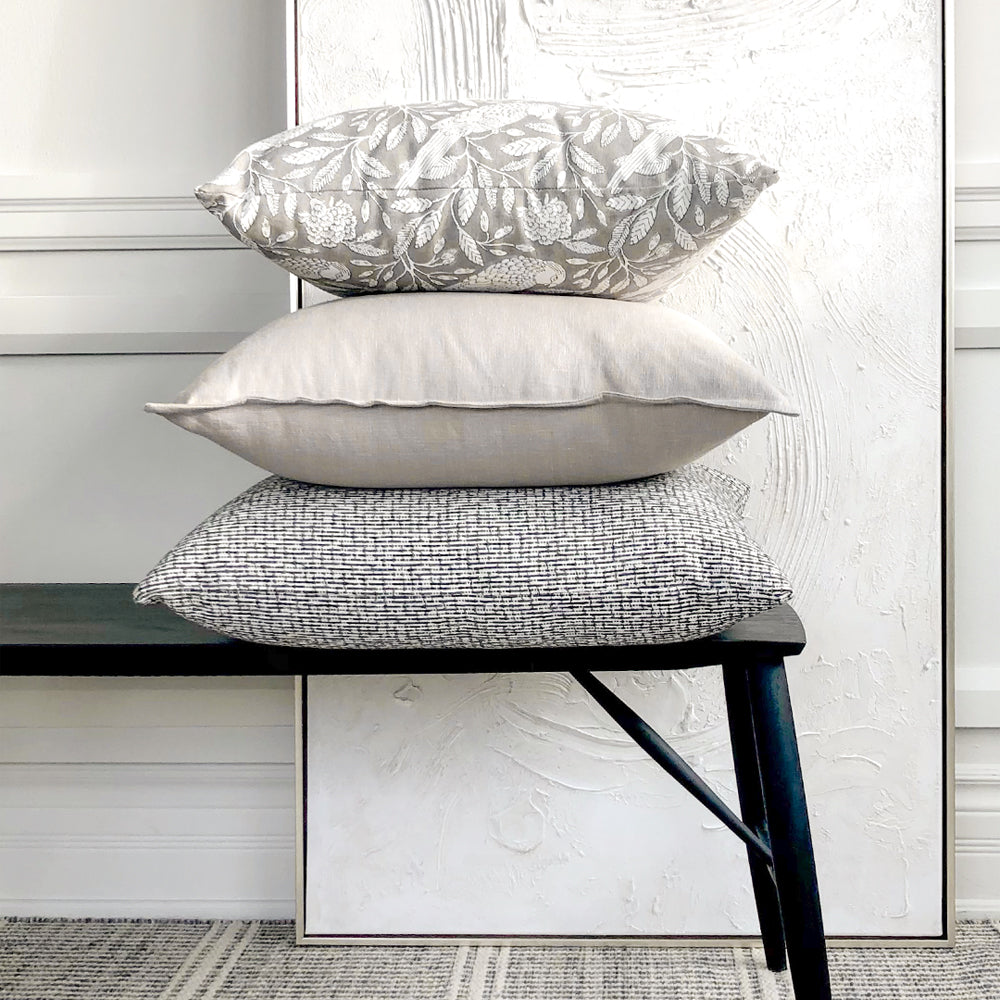 Modern designer neutral pillows from Tonic Living