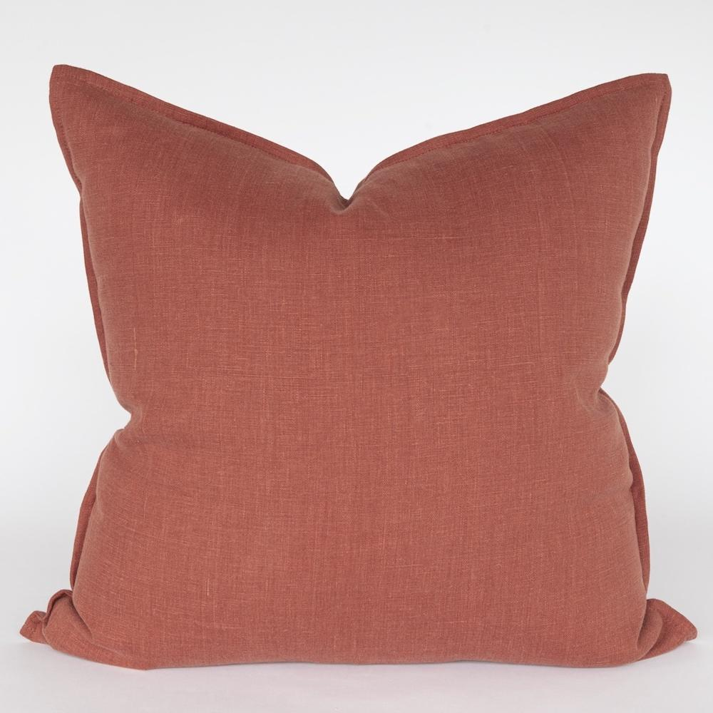 Tuscany Linen, Sumac pillow, a rust red pillow from Tonic Living