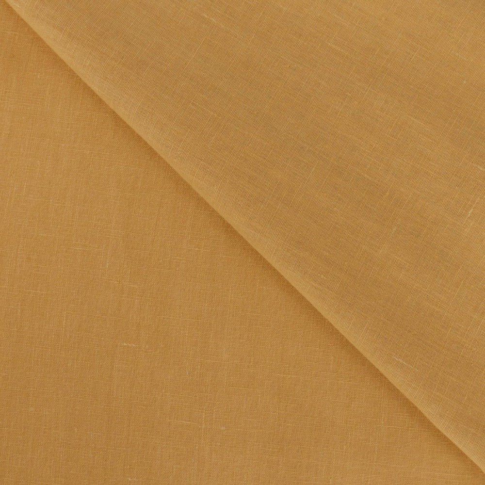 Tuscany Linen, Ochre, a mustard yellow fabric from Tonic Living