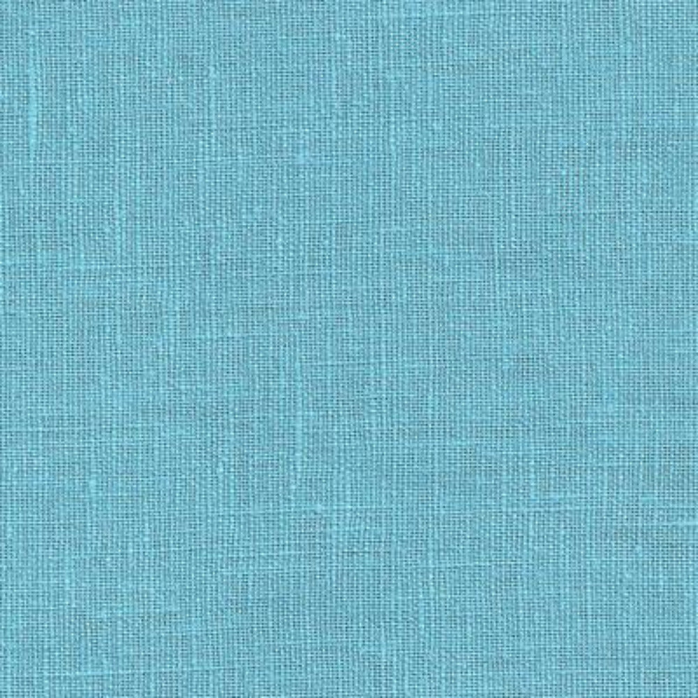 "Tuscany Linen, Turquoise - Remnant 46"" - Tonic Living"