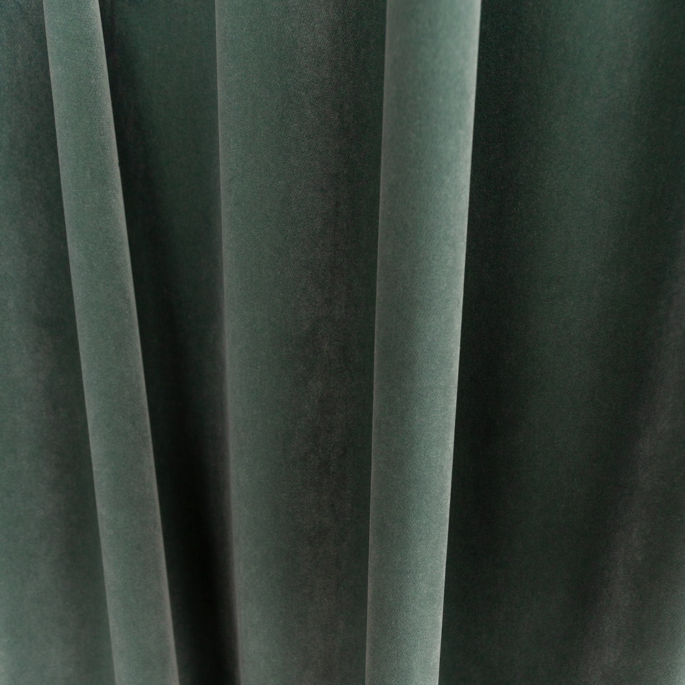 Valentina Velvet, Jade sage grey green fabric with blue undertones