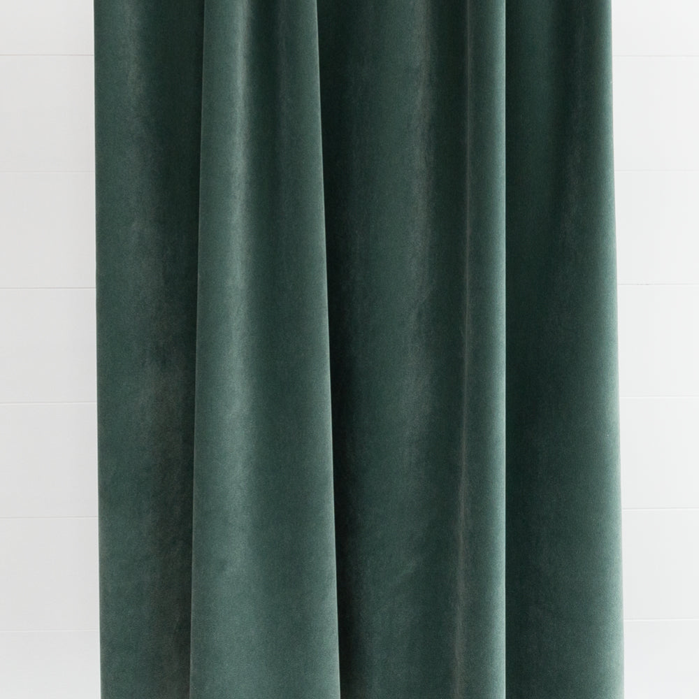 Valentina Velvet, Jade sage gray green fabric with blue undertones