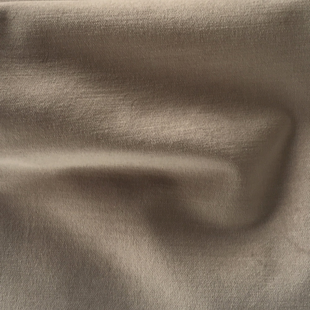 Velvet, Pewter - This warm taupe grey velvet fabric is a beautiful way to add texture, luxury and softness to your space.