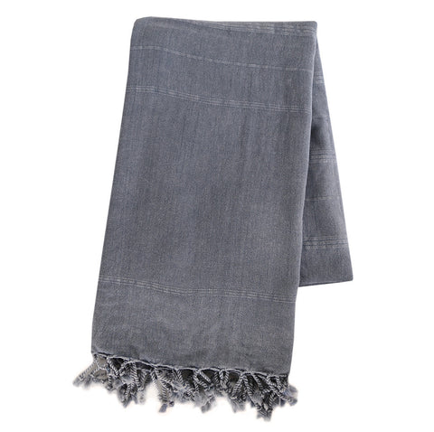 Turkish Towel - Vintage Denim, Black