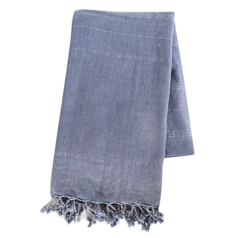 Turkish Towel - Vintage Denim, Blue