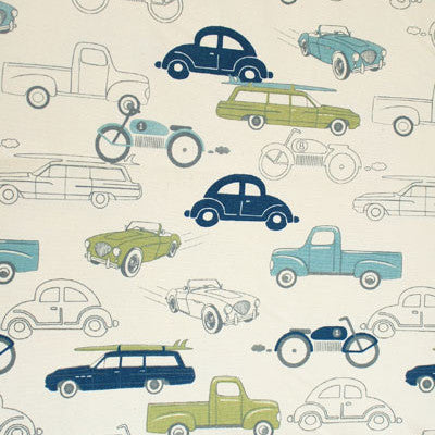 Vintage Vehicles, Surf Blue - [Product_type] - Tonic Living