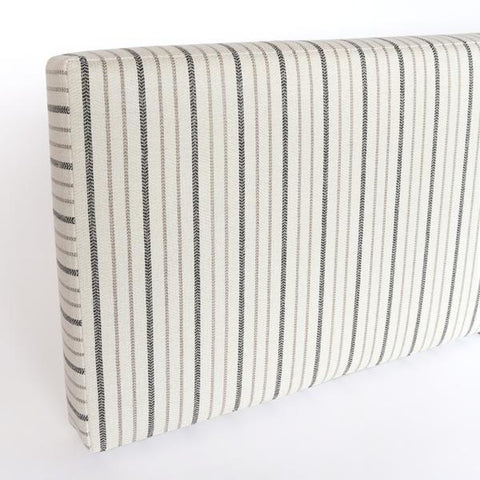 Ikea Kallax shelf hack storage bench cushion in Walter, railroad stripe