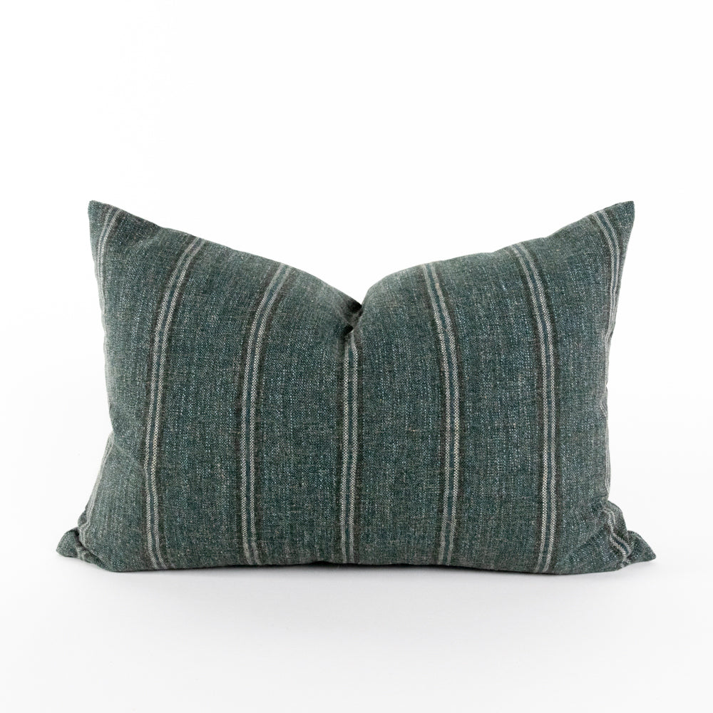 Yarmouth spruce green stripe lumbar pillows from Tonic Living