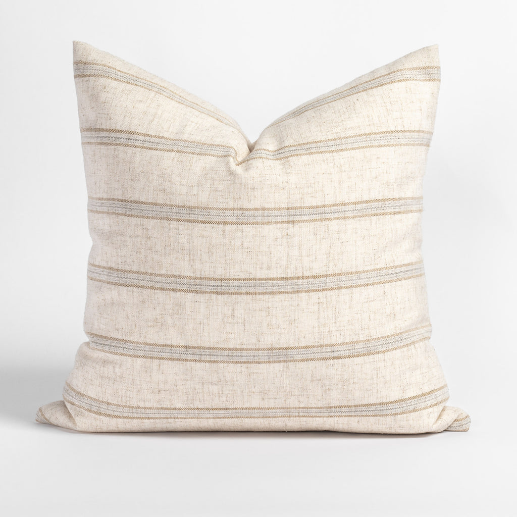 Yarmouth Stripe 20x20 Pillow, Sandstone