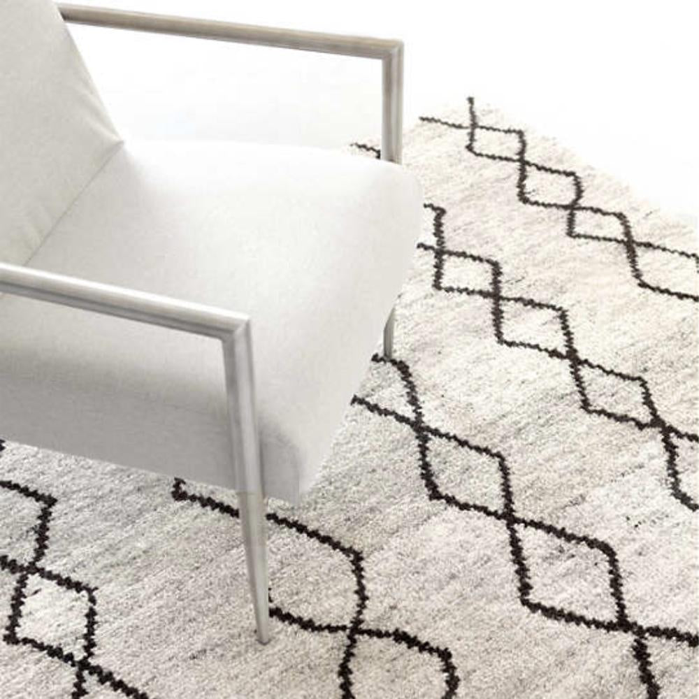 Zama, cream and brown graphic wool rug by Dash and Albert at Tonic Living