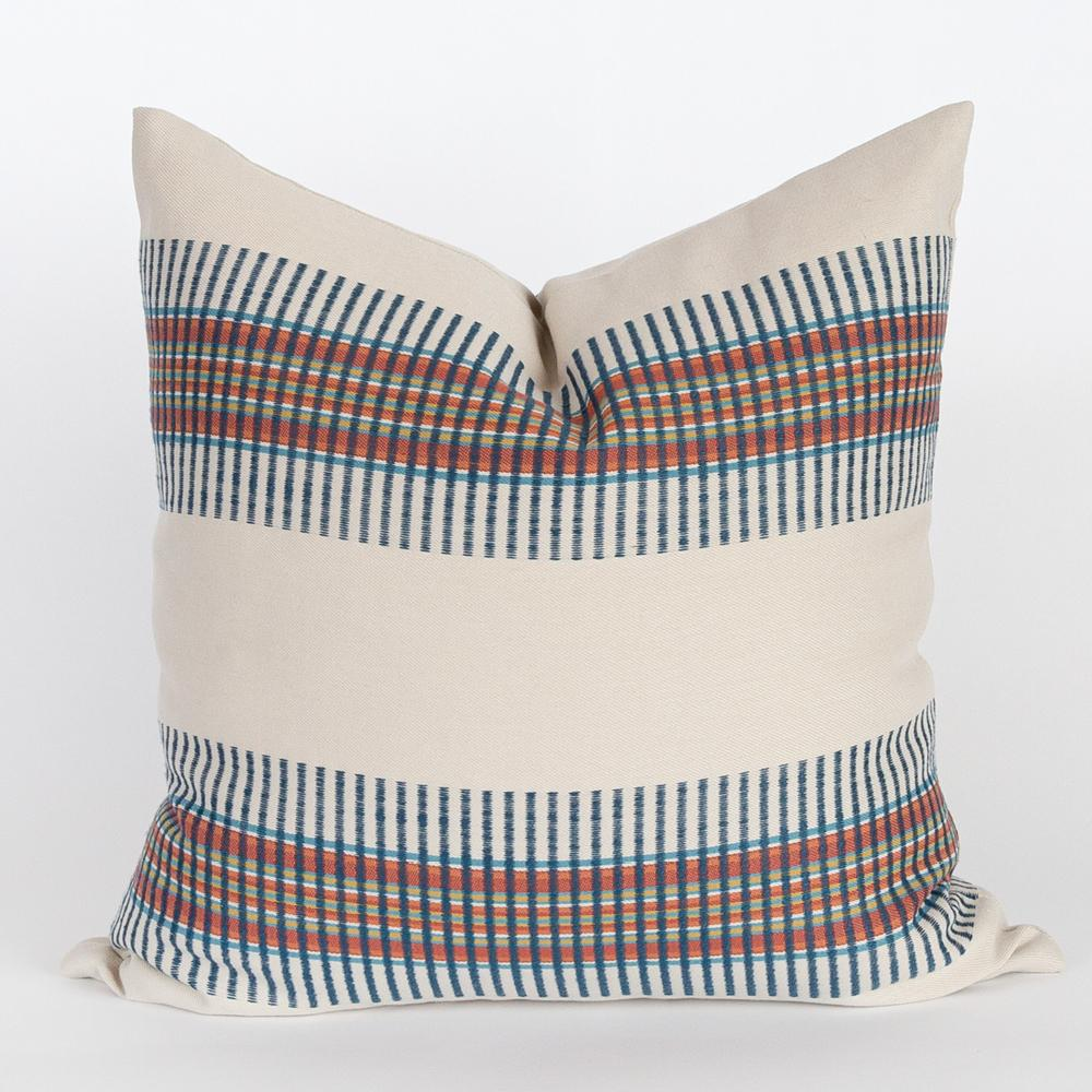 Zanzibar Regatta pillow, an indoor outdoor stripe pillow from Tonic Living