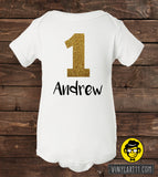 First Birthday Outfit Onesie (name)