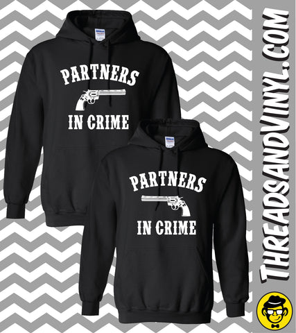 Partners in Crime- Matching Couple Hoodies (Set)