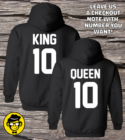 King 01 and Queen 01 Matching Couple Hoodies (Set)
