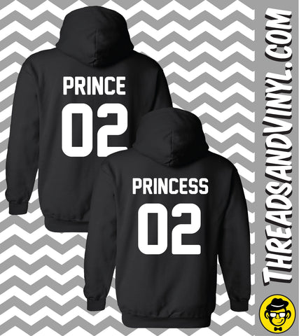 Prince 02 & Princess 02 Matching Couple Hoodies (Set)