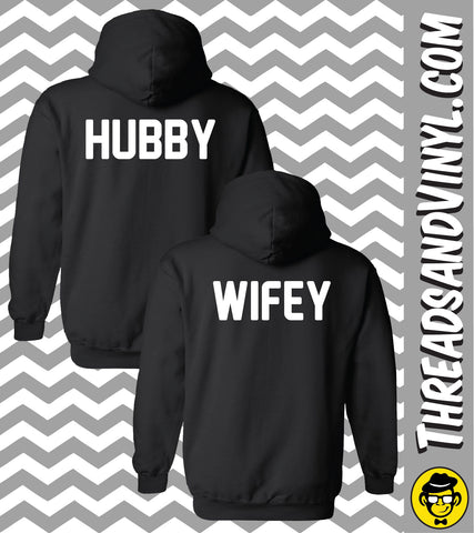Hubby & Wifey - Matching Couple Hoodies (Set)