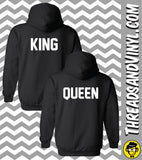 King and Queen - Matching Couple Hoodies (Set)