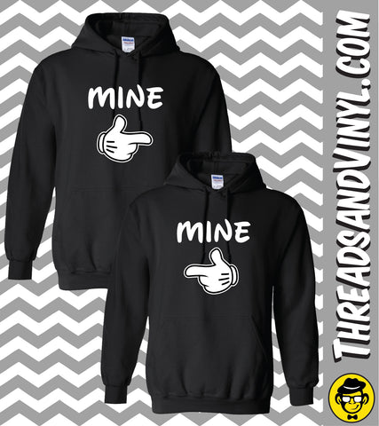 MINE Matching Couple Hoodies (Set)
