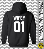 Hubby 01 & Wifey 01 Matching Couple Hoodies (Set)
