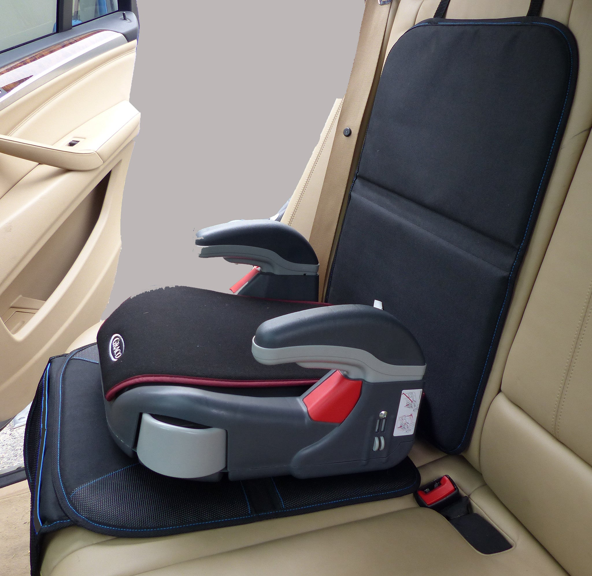 Child Car Seat Protector For Leather Velcromag