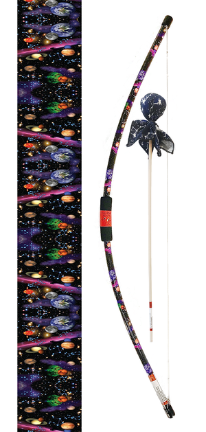 Galaxy Bow with Glow in the Dark Arrow