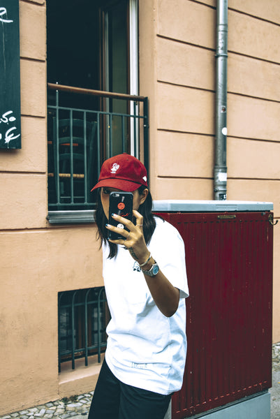 Peggy S/S Burgundy 6-Panel Cap