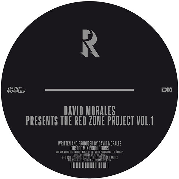 "David Morales - The Red Zone Project Vol. 1 (12"" Vinyl)"