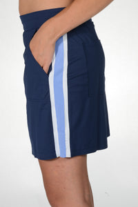 women's summer clothing, Belyn Key Collegiate Skort with Side Stripes, Skort, Belyn Key, Large, , ladies golf and tennis fashion, golf accessories - From the Red Tees.