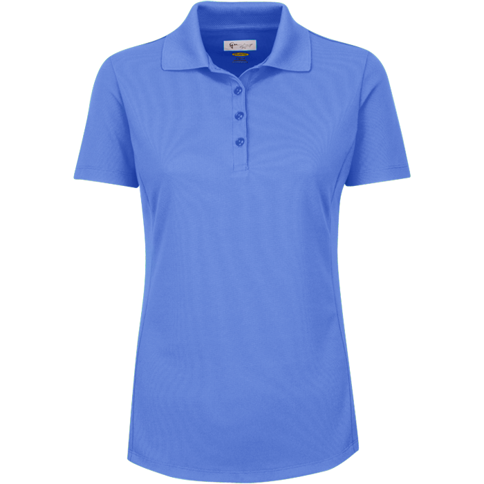 women's summer clothing, Greg Norman Short Sleeve Polo-Cayman Blue, Short Sleeve Shirt, Greg Norman, , , ladies golf and tennis fashion, golf accessories - From the Red Tees.