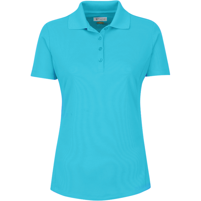 women's summer clothing, Greg Norman Short Sleeve Polo-Peacock, Short Sleeve Shirt, Greg Norman, , , ladies golf and tennis fashion, golf accessories - From the Red Tees.