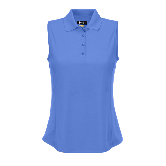 women's summer clothing, Greg Norman Sleeveless Polo-Cayman Blue, Sleeveless Shirt, Greg Norman, Small, , ladies golf and tennis fashion, golf accessories - From the Red Tees.