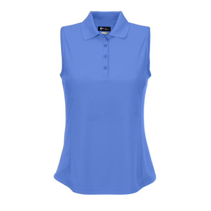 women's summer clothing, Greg Norman Sleeveless Polo-Cayman Blue, Sleeveless Shirt, Greg Norman, , , ladies golf and tennis fashion, golf accessories - From the Red Tees.