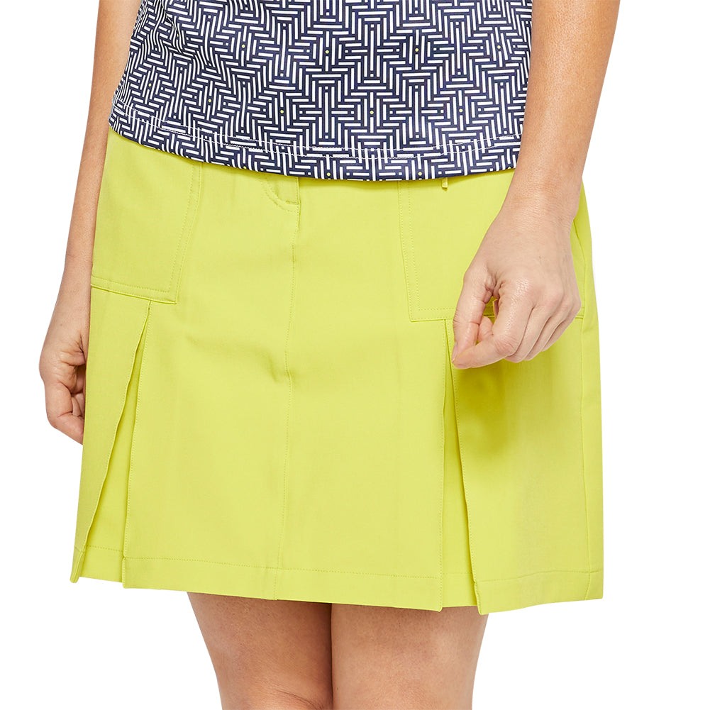 women's summer clothing, GG Blue Boca Skort-Citron, Skort, GG Blue, , , ladies golf and tennis fashion, golf accessories - From the Red Tees.