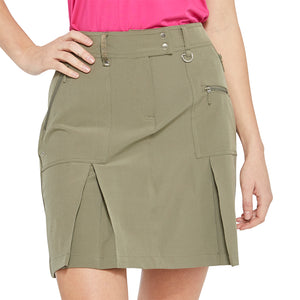 women's summer clothing, GG Blue Boca Skort-Olive, Skort, GG Blue, 16, , ladies golf and tennis fashion, golf accessories - From the Red Tees.