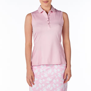 women's summer clothing, Nivo Winona Polo, Sleeveless Shirt, Nivo, , , ladies golf and tennis fashion, golf accessories - From the Red Tees.