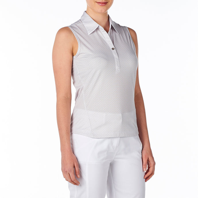 women's summer clothing, Nivo Willow Polo, Sleeveless Shirt, Nivo, Small, , ladies golf and tennis fashion, golf accessories - From the Red Tees.