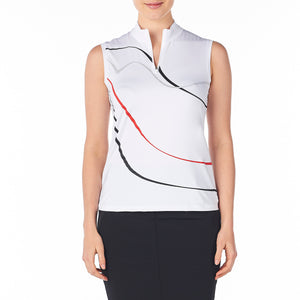 women's summer clothing, Nivo Sleeveless Rimona Mock, Sleeveless Shirt, Nivo, , , ladies golf and tennis fashion, golf accessories - From the Red Tees.