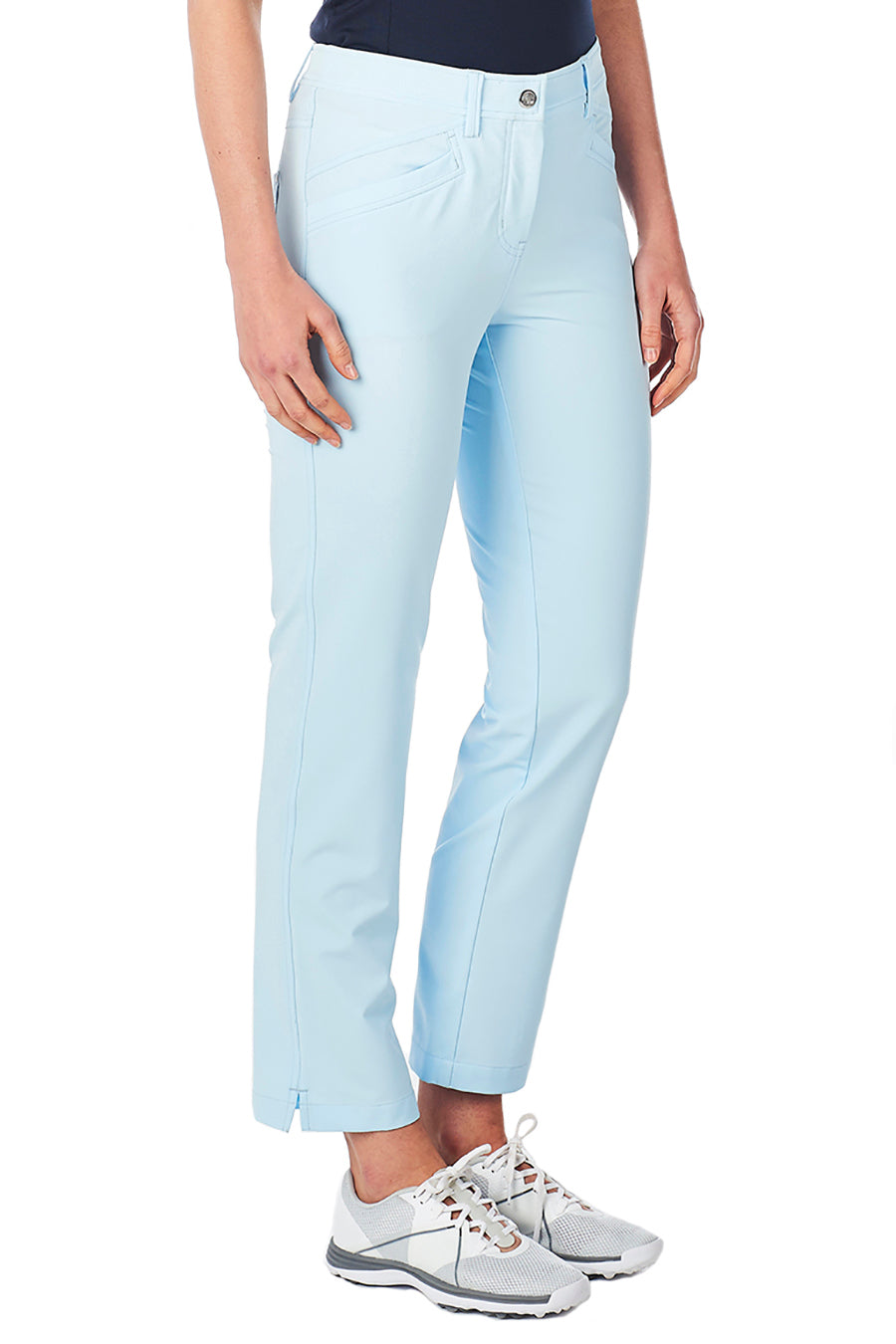 women's summer clothing, Nivo Mabel Ankle Pants-Ice Blue, Pants, Nivo, , , ladies golf and tennis fashion, golf accessories - From the Red Tees.