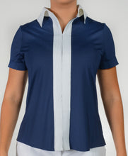 women's summer clothing, Belyn Key-Short Sleeve Shirt-Navy, Short Sleeve Shirt, Belyn Key, Medium, , ladies golf and tennis fashion, golf accessories - From the Red Tees.