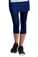 women's summer clothing, SanSoleil Skort with Attached Leggings-Navy, Skort with attached leggings, SanSoleil, , , ladies golf and tennis fashion, golf accessories - From the Red Tees.