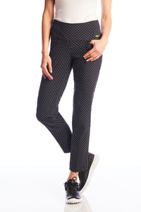women's summer clothing, Swing Control Ankle Pants-Black patterned, Pants, Swing Control, , , ladies golf and tennis fashion, golf accessories - From the Red Tees.