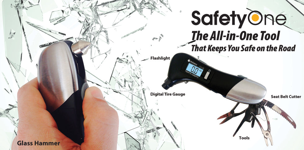 Datexx All-in-One Digital Tire Gauge with Emergency Tools