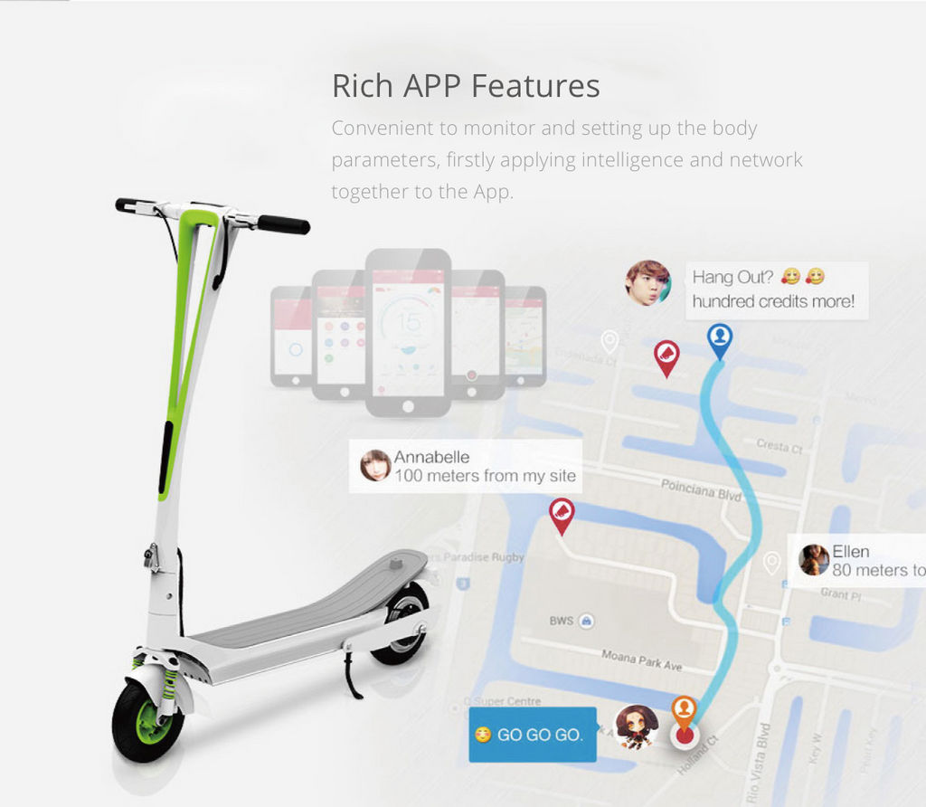 Inmotion L-6 Electric Scooter App Features