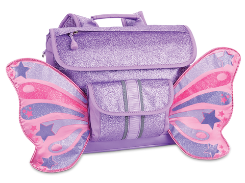 Bixbee Sparkalicious Butterflyer Purple Backpack - Small | MaxStrata