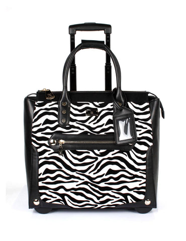 Karla Hanson Women's Animal Print RFID Professional & Travel Trolley | MaxStrata
